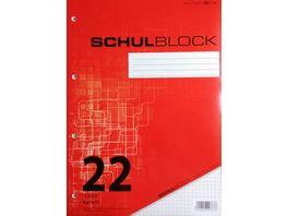 PAPERZONE Schulblock A4 Lineatur 22 50 Blatt