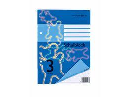 PAPERZONE Schulblock A5 Lineatur 3 50 Blatt