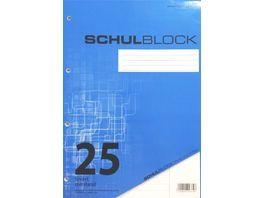 PAPERZONE Schulblock A4 Lineatur 25 50 Blatt