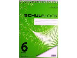 PAPERZONE Spiralschulblock A5 Lineatur 6 50 Blatt