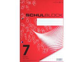 PAPERZONE Schulblock A5 Lineatur 7 50 Blatt
