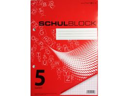 PAPERZONE Schulblock A5 Lineatur 5 50 Blatt