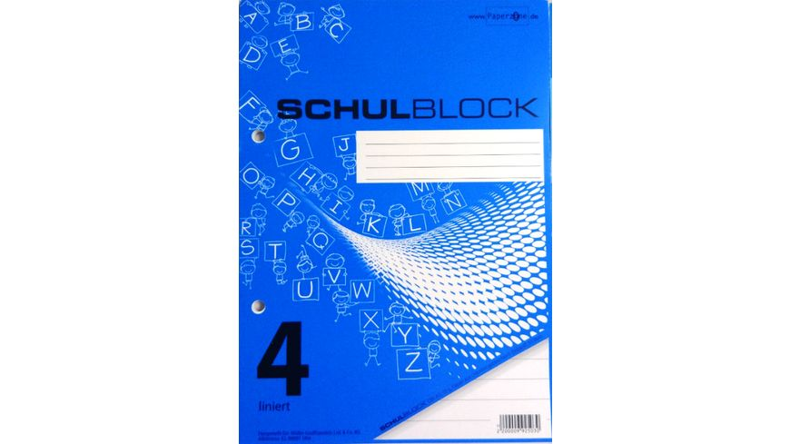 PAPERZONE Schulblock A5 Lineatur 4 50 Blatt