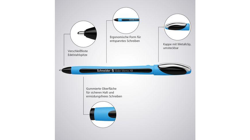 Schneider Kugelschreiber Slider Memo XB blau
