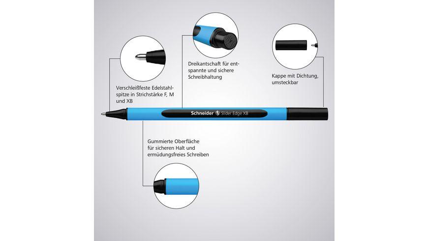Schneider Kugelschreiber Slider Edge XB schwarz
