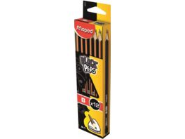 Maped Black Peps Triangular Bleistift Set B 12er Pack