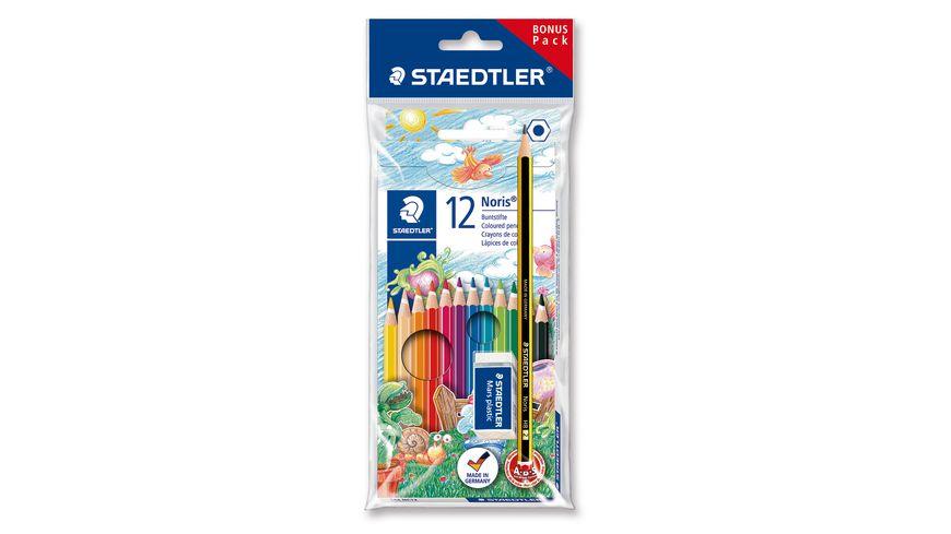 STAEDTLER Farbstifte mit Radierer 12er