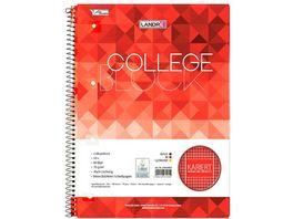Collegeblock A4 80Blatt Lineatur 28 kariert 4fach gelocht