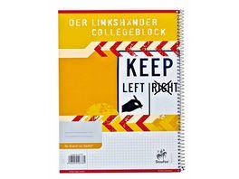 Collegeblock fuer Linkshaender A4 kariert 80 Blatt