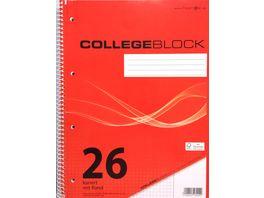 PAPERZONE Collegeblock A4 Lineatur 26 80 Blatt