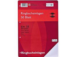 PAPERZONER Ringbucheinlagen A4 Lineatur 22 50 Blatt