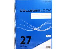 PAPERZONE Collegeblock A4 Lineatur 27 80 Blatt