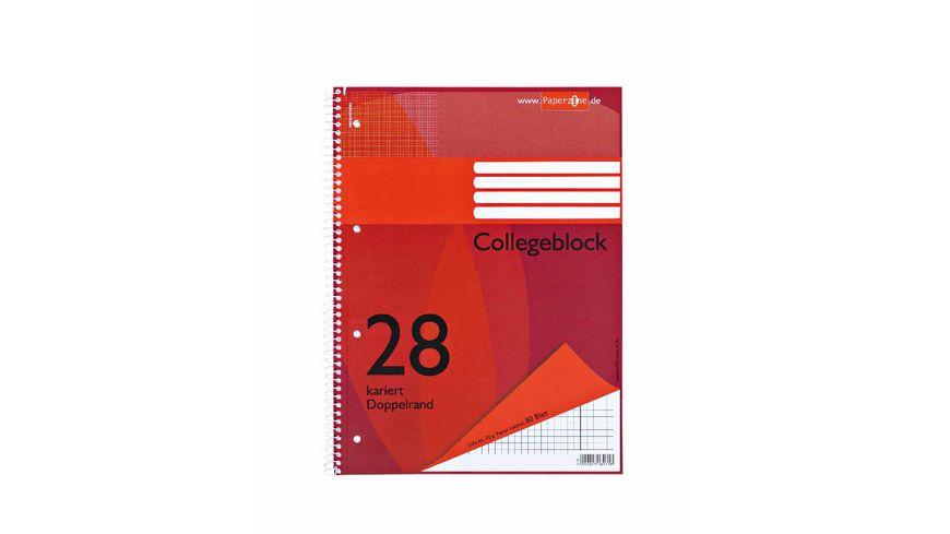 PAPERZONE Collegeblock A4 Lineatur 28 80 Blatt