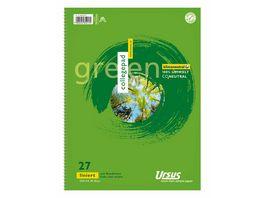 Green Ursus Collegeblock A4 Lineatur 27 80 Blatt