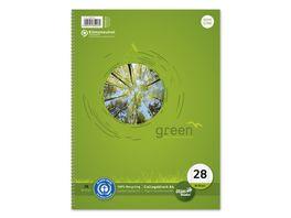Green Ursus Collegeblock A4 Lineatur 28 80 Blatt
