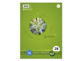 Ursus Green Collegeblock A4 Lineatur 28 80 Blatt