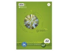 Ursus Green Collegeblock A4 80 Blatt 5mm kariert