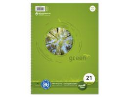 Ursus Green Collegeblock A4 80 Blatt 9mm liniert