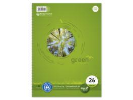 Ursus Green Collegeblock A4 80 Blatt Lineatur 26
