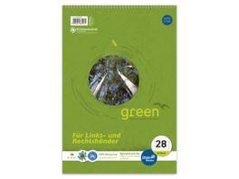 Ursus Green Spiralblock A4 80 Blatt Lineatur 28 Links und Rechtshaender