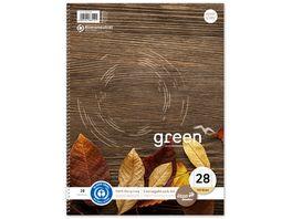 Ursus Green Collegeblock A4 100 Blatt Lineatur 28