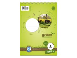 Ursus Green Spiralblock Lineatur 6 A5 40 Blatt blanko