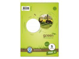 Ursus Green Spiralblock Lineatur 5 A5 40 Blatt 5mm kariert
