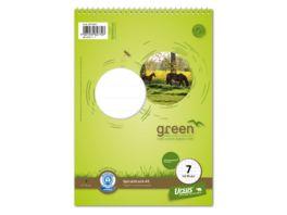 Ursus Green Spiralblock Lineatur 7 A5 40 Blatt 7mm kariert