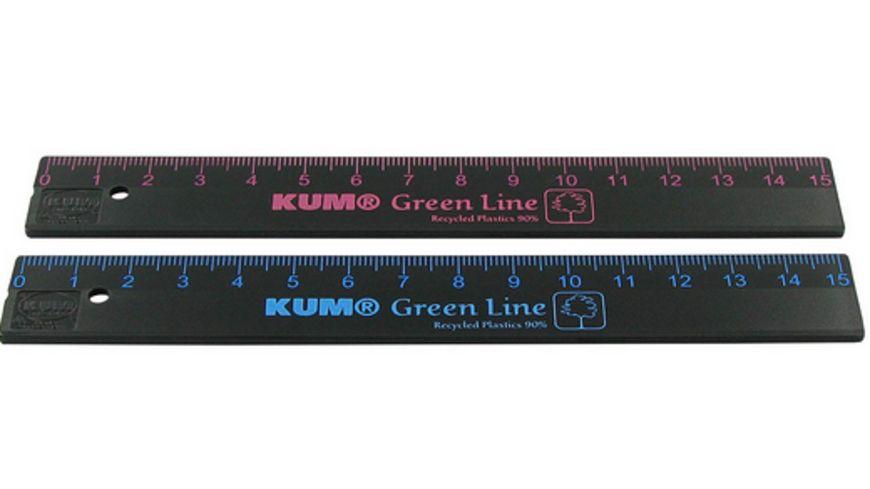 KUM Lineal Green Line 15cm schwarz sortiert