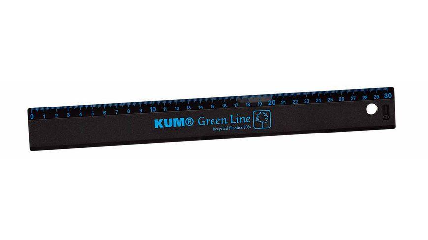 KUM Lineal Green Line 30cm schwarz