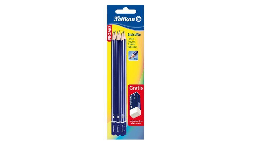 Pelikan Bleistift Radierer Set 7 teilig