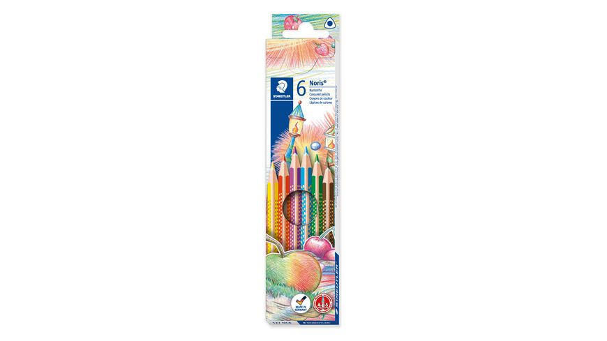 STAEDTLER Farbstift Noris Club triplus Slim 6er Etui