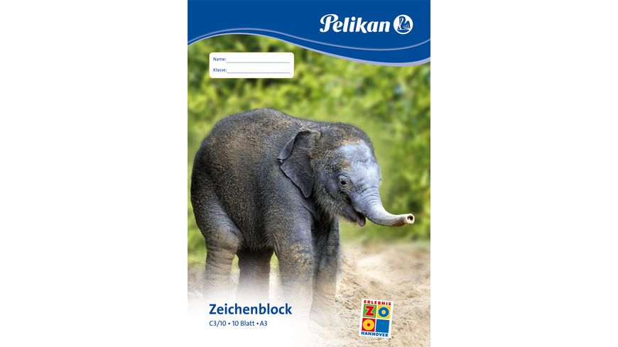 Pelikan Zeichenblock A3 10 Blatt 100g qm sortierte Motive