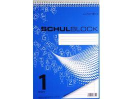 PAPERZONE Spiralschulblock A5 Lineatur 1 50 Blatt