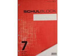 PAPERZONE Schulblock A4 Lineatur 7 50 Blatt