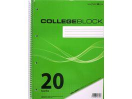 PAPERZONE Collegeblock A4 Lineatur 20 80 Blatt