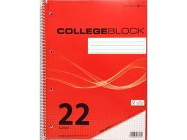 PAPERZONE Collegeblock A4 Lineatur 22 80 Blatt