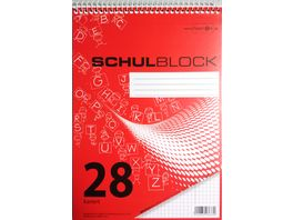 PAPERZONE Spiralschulblock A5 Lineatur 28 50 Blatt