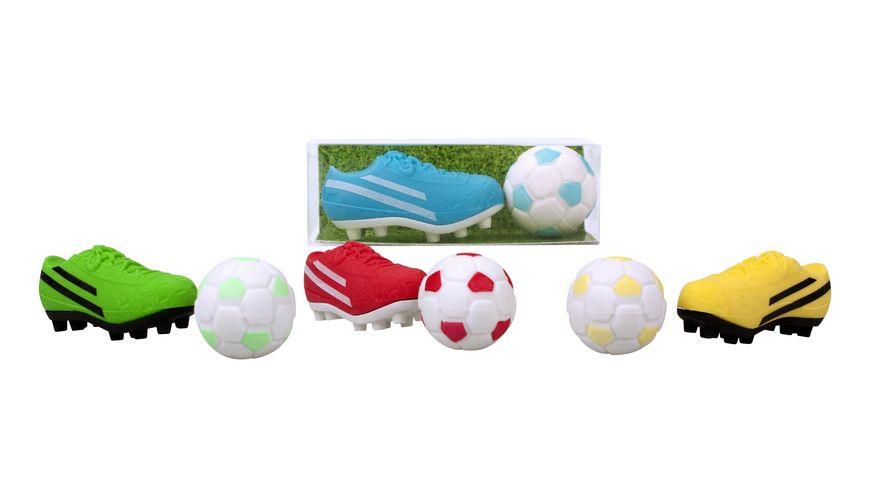 TRENDHAUS Radierer Set Fussball sortiert