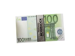 TRENDHAUS Notizblock Geldscheine 100