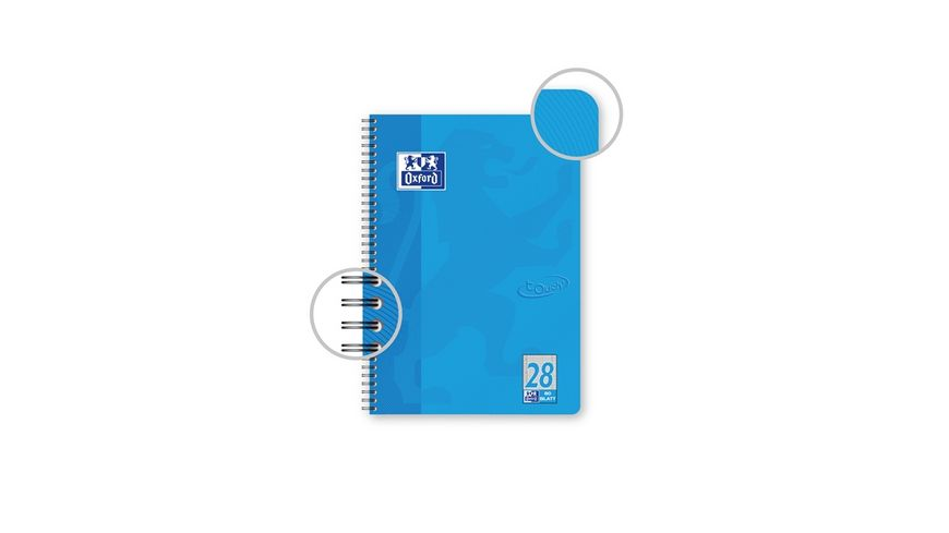 Oxford Collegeblock A4 TOUCH blau Lineatur 28