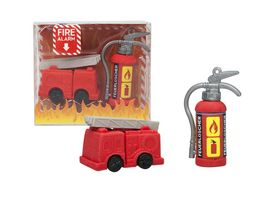 TRENDHAUS Radierer Set Fire Alarm sortiert