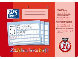 Oxford Schreiblernheft Zahlenlernheft A4 Lineatur ZL 16 Blatt