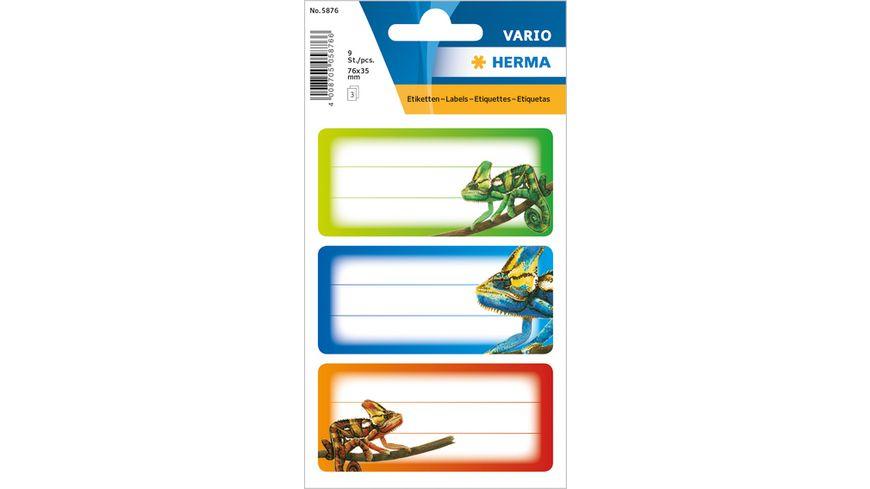 VARIO Schuletiketten Gecko
