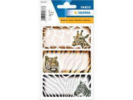 VARIO Schuletiketten Afrikanische Tiere