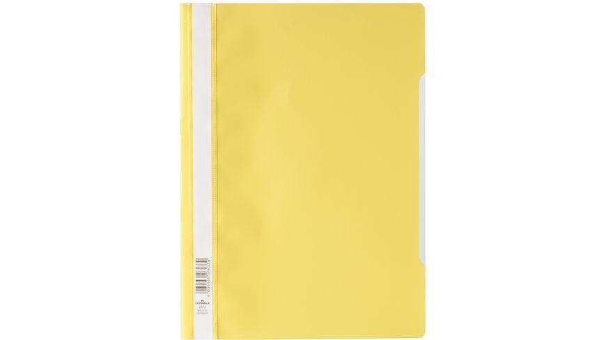 DURABLE Schnellhefter A4 PP gelb