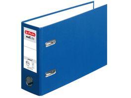 herlitz Ordner maX file protect A5 quer 8cm blau