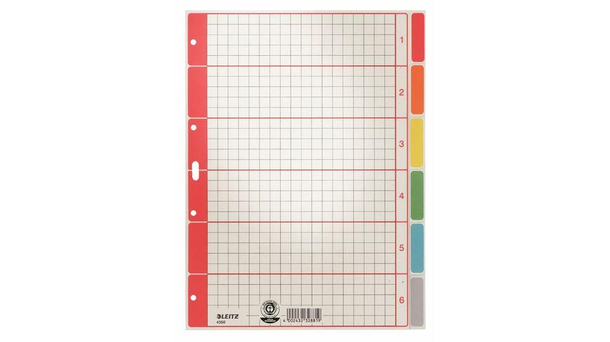 LEITZ Register A4 6 tlg mehrfarbig