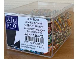 ALCO Bueroklammern 300 Stueck gestreift
