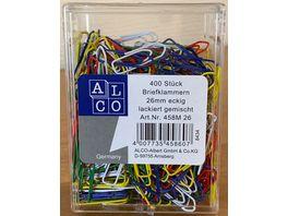 ALCO Bueroklammern 400 Stueck farbig